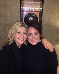 Kelly Lang with best friend Olivia Newton John